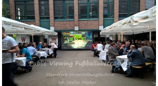 Soccer public viewing