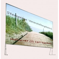 Verleih Leinwand 3,1mx1,8m Rückprojektion Format 16:9