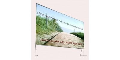 Verleih Leinwand 4,6mx2,7m Rückprojektion Format 16:9