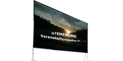projectionscreen 6mx4,5m frontprojekction foldable for rent